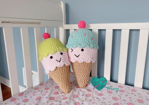 Crochet Cuddly Ice Cream Cone