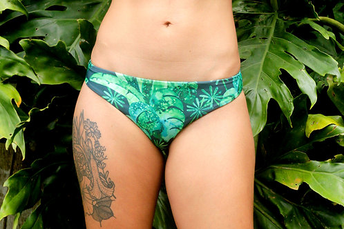 Sustainable Funkini Monstera Party reversible brazilian bottom
