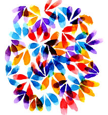 Petalicious original watercolor art for textile design