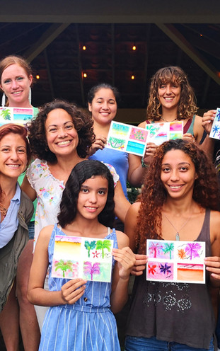 First watercolor workshop with founder Melissa Ramirez