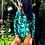 Thumbnail: Ocean Rider Monstera Party long sleeve surf suit cheeky bottom