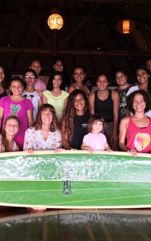 Dry Land surf workshop at Sansara Resort with ambassador coach Alexandra Correa