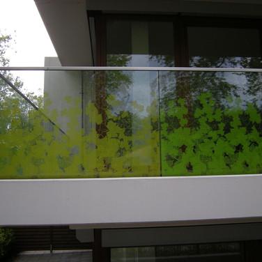 Sichtschutz verglaster Balkon (Düsseldorf)