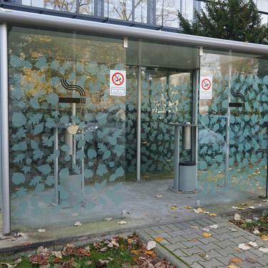 Sichtschutz Raucherkabine (Düsseldorf)