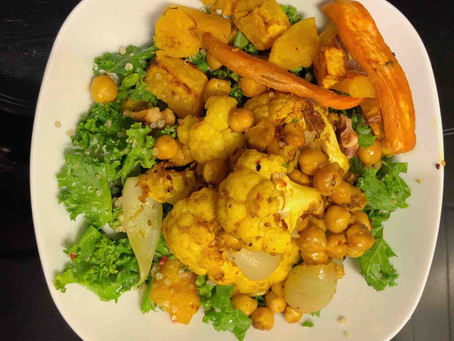 Spicy cauliflower & chick-peas