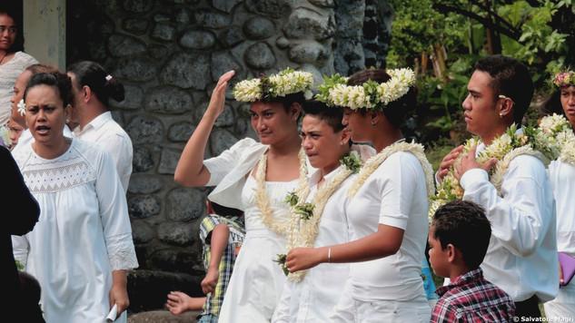 Festa della cresima a Tahuata