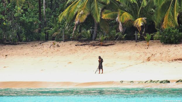 Isole Marchesi, Tahuata, pesca dalla spiaggia