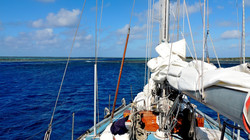 Maupihaa la passe e l'atollo