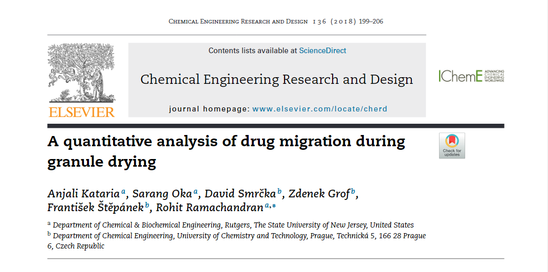 Quantitative analysis of drug mig.