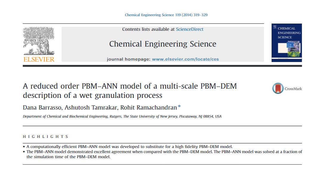 PBM-ANN coupled model