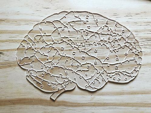 Quebra Cabeça Transparente 102 peças - Cérebro