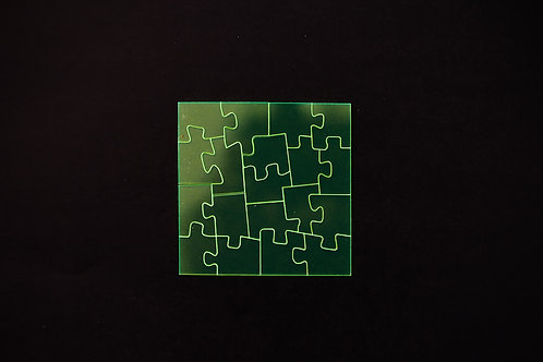 Quebra Cabeça Transparente 19 peças (Ângulos)