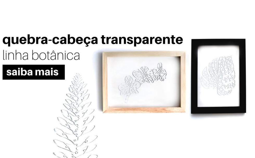 quebra cabeca transparente linha botanic