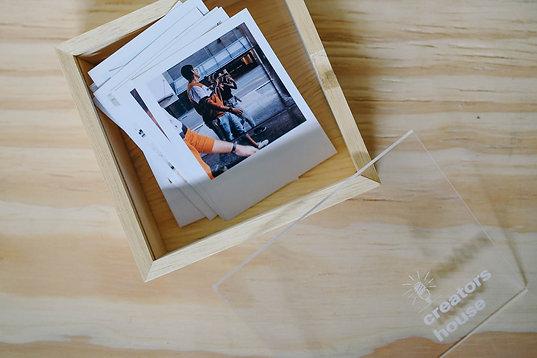 Combo Fotos Estilo Polaroid + Caixa com 1 Compartimento