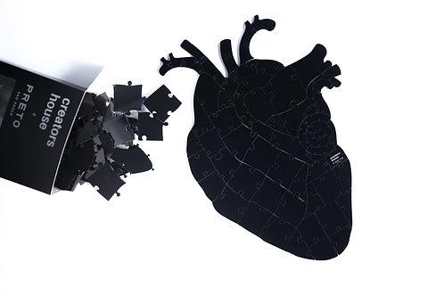 Quebra Cabeça Preto 65 peças - Heart