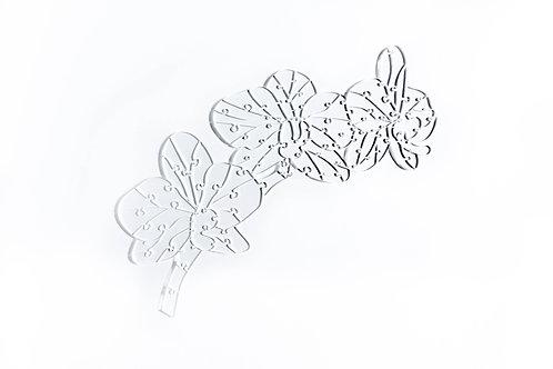 Quebra Cabeça Transparente Orquídea - 67 peças