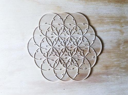 Quebra Cabeça Transparente Flor da Vida (80 peças)