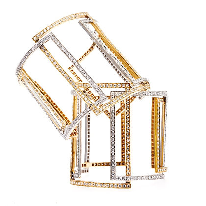 Rectangle Diamond Cuff