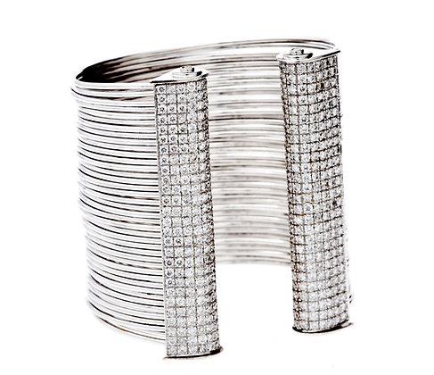 White Gold Line Bracelet