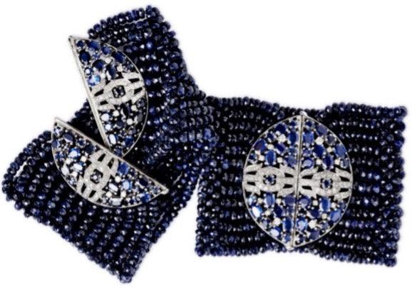 Dark Sapphire Diamond Bracelet