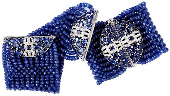 Light Sapphire Diamond Bracelet