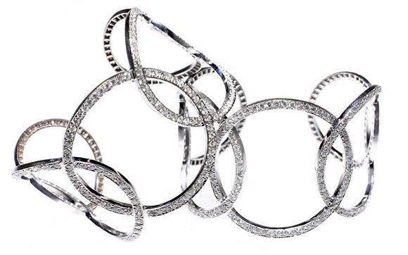 Five Circle Diamond Cuff