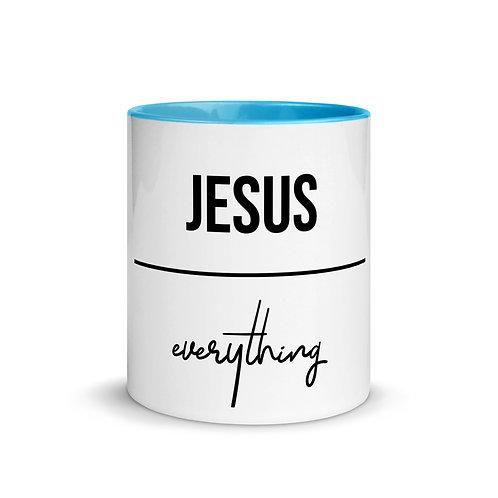 Jesus Over Everything Mug with Color Inside