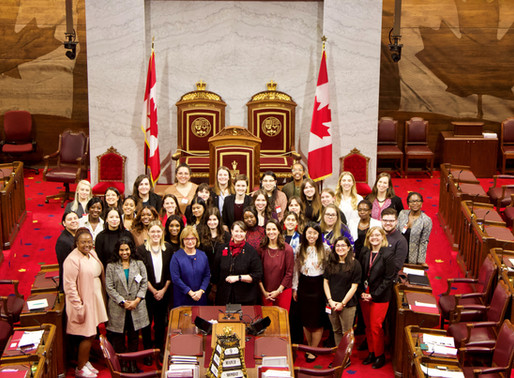 SHE CAN, EMPOWHER: Six young women from Equal Chance participate in a two-day forum at Parliament