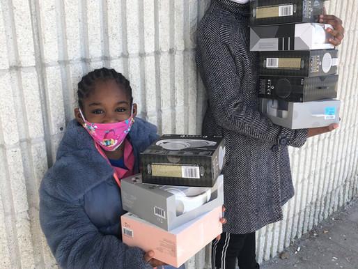 HEADPHONES FOR HOMELESS BLACK CHILDREN IN TEMPORARY HOUSING
