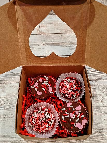 Box of Chocolates-2 Chocolate Truffles & 2 Peanut Butter Cups