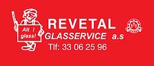 Logo beskjært Revetal Glasservice AS 202