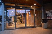 Automatikkdører, inngangsparti, glass, aluminum