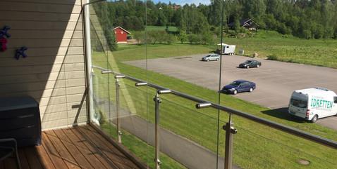 Vindskjerming i glass - Revetal Glasserv