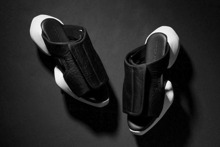 A close up of Rick Owens x Adidas 'The Clog'