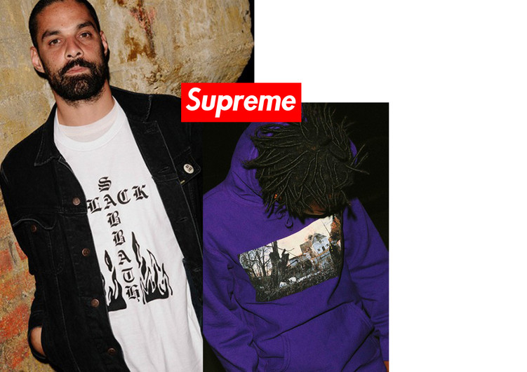Supreme teams up with Black Sabbath