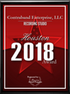 Contraband Enterprise, LLC Receives 2018 Best Recording Studio Award