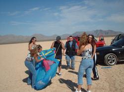 Directing Latin Desert Girls music video.