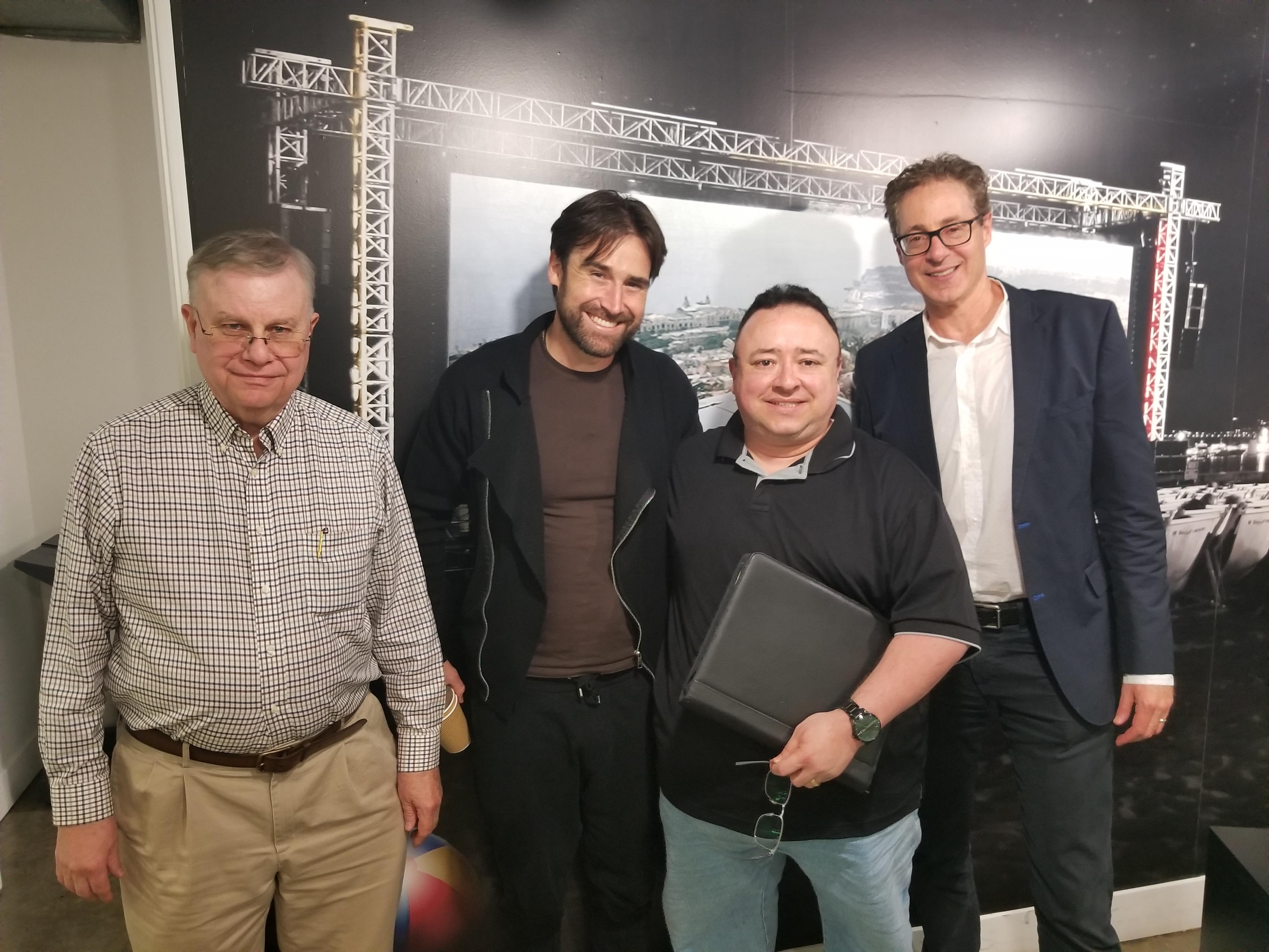 Whitley Strieber, Sean Stone, Gabe, Morris Ruksin.