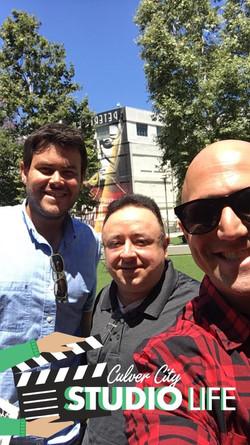 Schuyler Richards, Gabe, Richard Itskovich at Sony Studios.