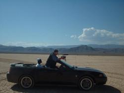 Shooting Latin Desert Girls music video.