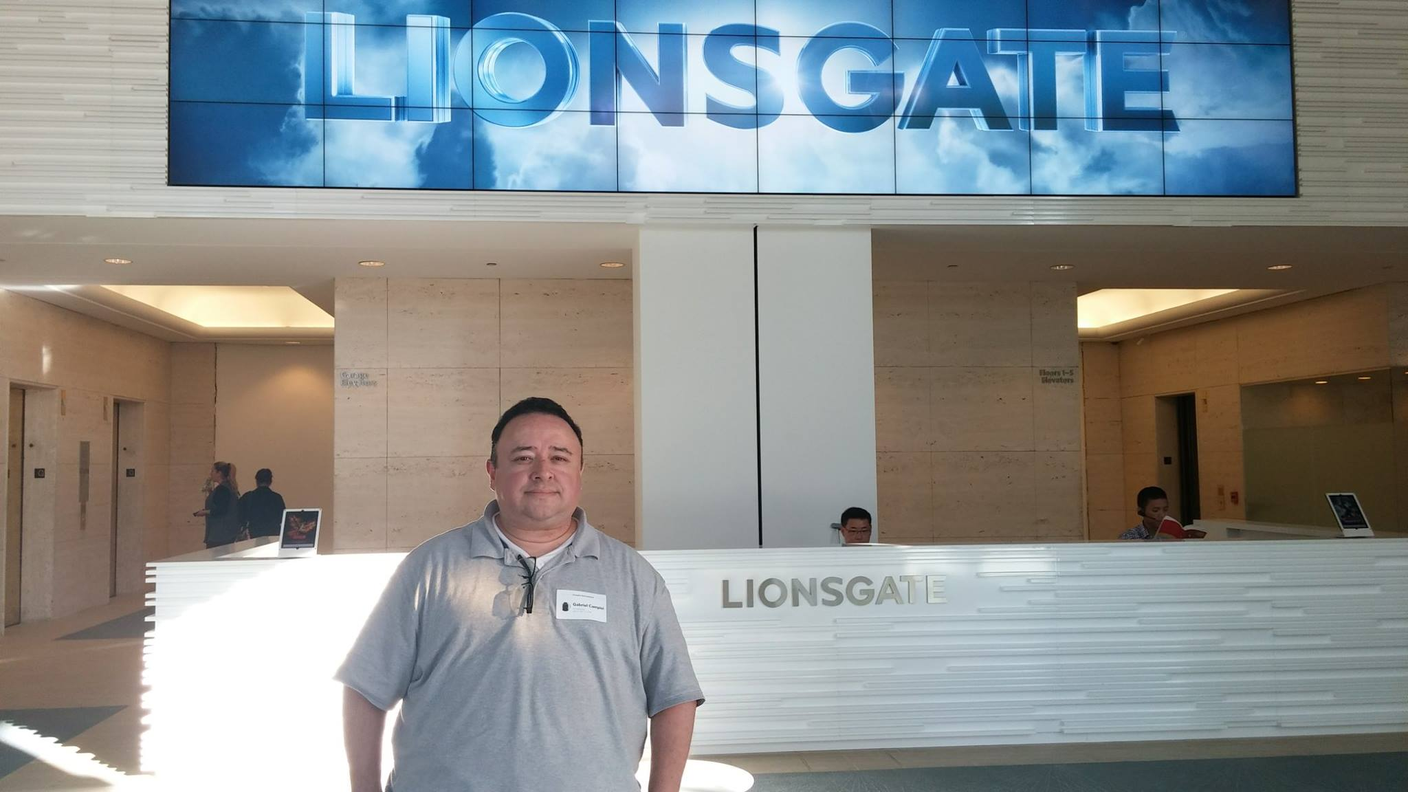 Gabe meeting Jon Feltheimer at Lionsgate.