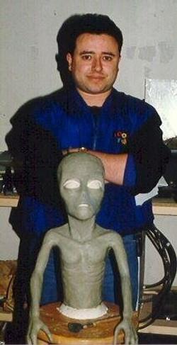 Prepping alien sculpt for Shadowdance.