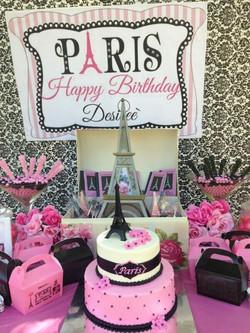Paris Theme Birthday Party