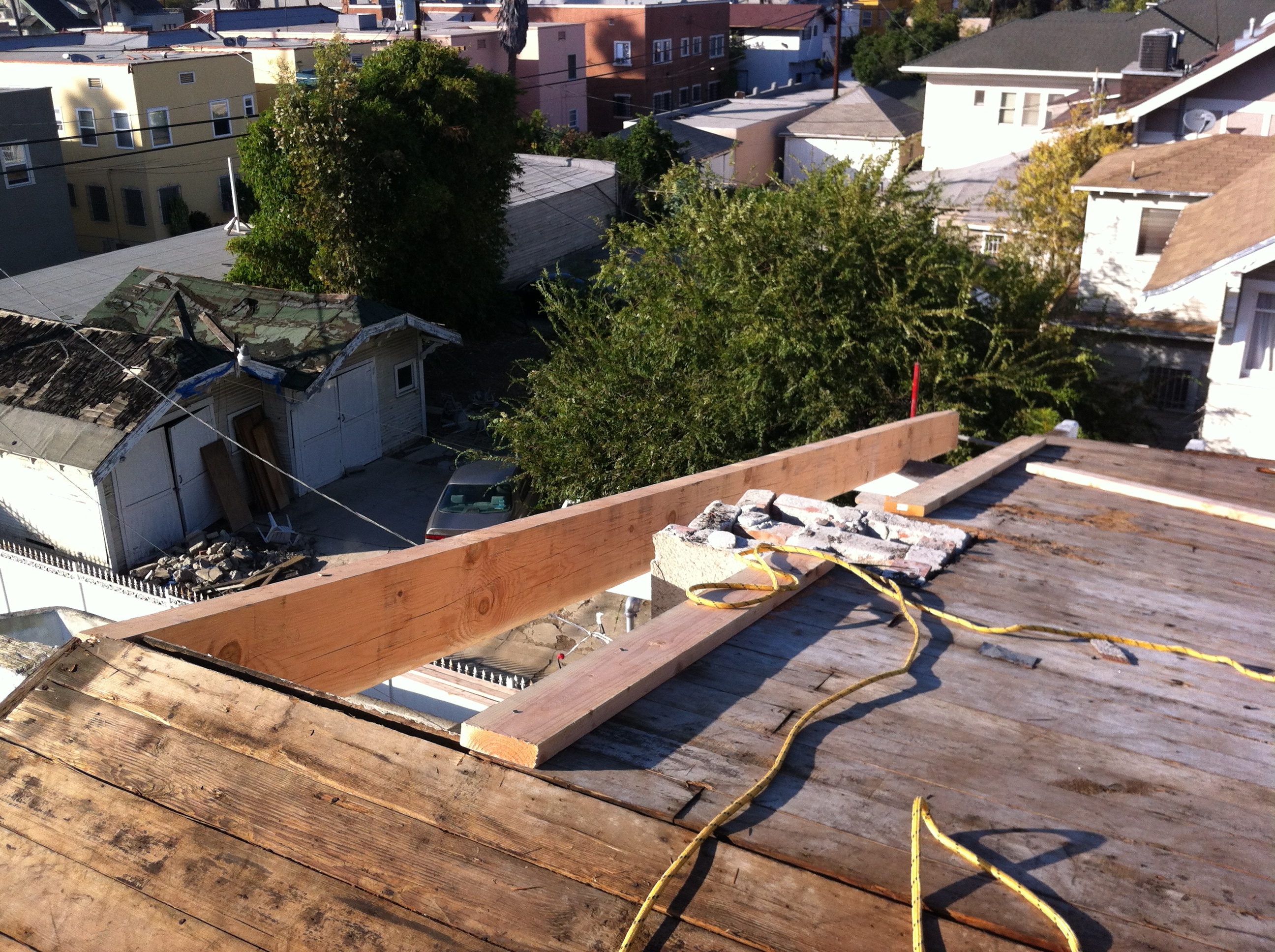 Oversided Rafter Top View