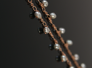 antique copper and freshwater pearl on b