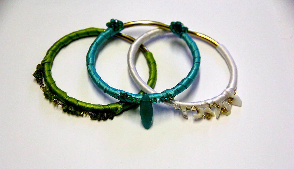 gemstone link and crystal brass bangle bracelets.jpg