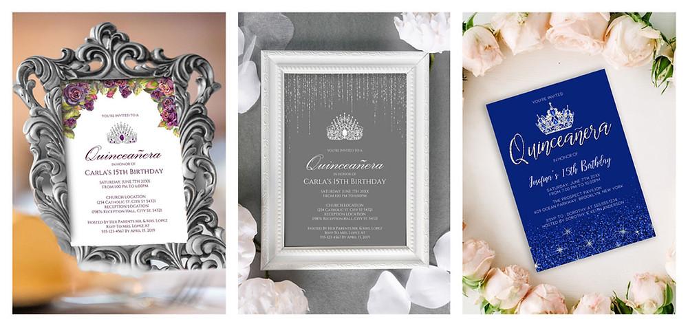 Personalized Quinceanera Invitations
