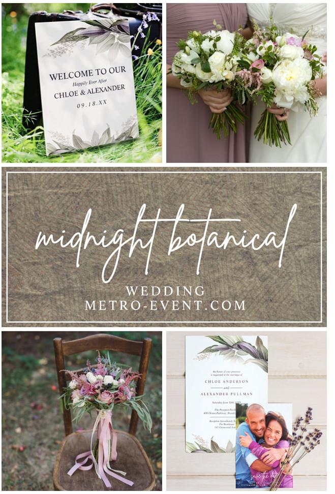 Midnight Botanical Wedding