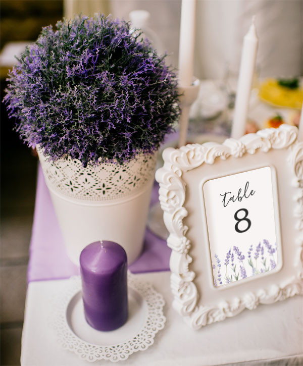 Country Lavender Table Cards