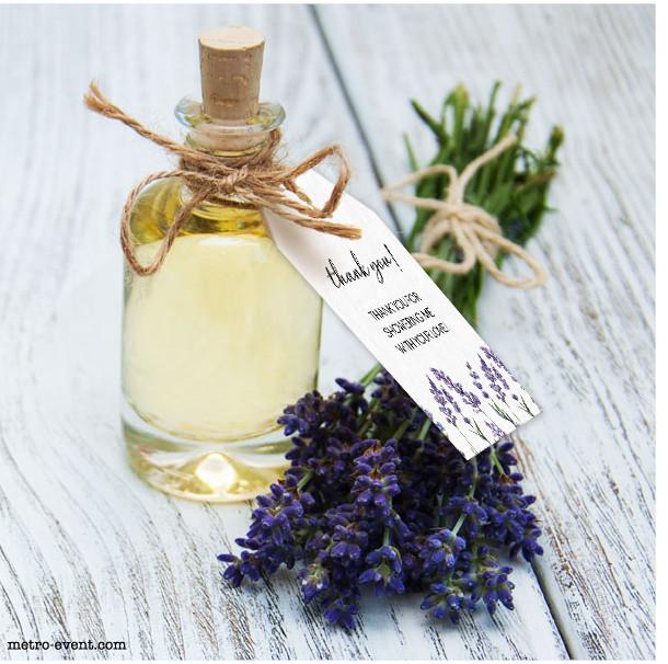 Lavender Favor Tags